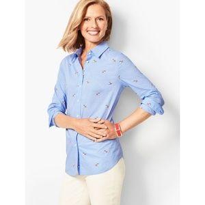 Talbot's Classic Cotton Corgi Print Shirt